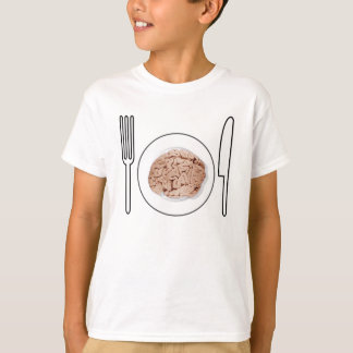 Food for thought Riddle T Brain food geek kids T-Shirt