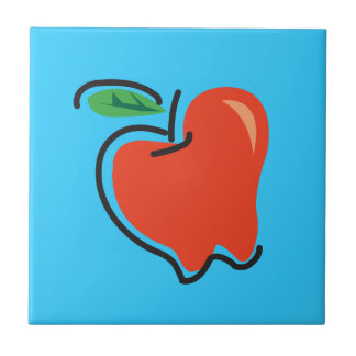 Food For Thought_Totally Fruity_Apple Ceramic Tile