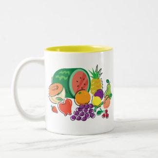Food For Thought_Totally Fruity_Cornucopia Two-Tone Coffee Mug