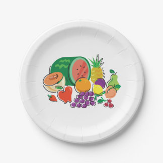 Food For Thought_Totally Fruity_Cornucopia Party Paper Plate