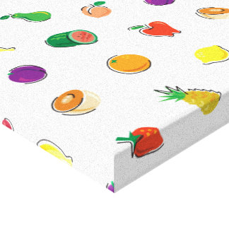 Food For Thought_Totally Fruity_Pattern Canvas Print