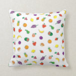 Food For Thought_Totally Fruity_Pattern Throw Pillow