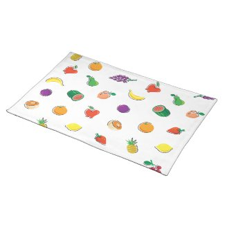 Food For Thought_Totally Fruity_Pattern Placemat