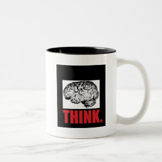 Food For Thought Two-Tone Coffee Mug