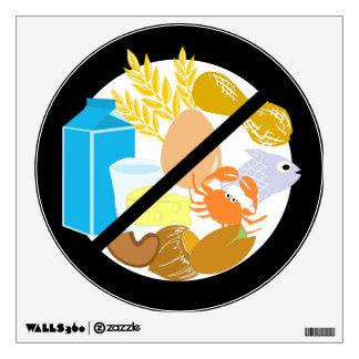 Food Free Area Allergy Friendly Symbol Wall Sticker