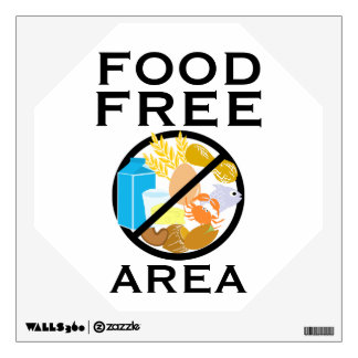 Food Free Area Allergy Friendly Zone Customizable Wall Decal