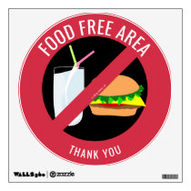 Food Free Area, No Food Allowed Allergy Friendly Wall Decal