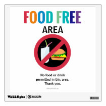 Food Free Classroom Customized Allergy School Wall Decal