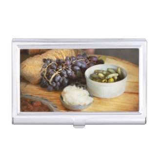 Food - Fruit - Gherkins and Grapes Business Card Case