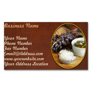 Food - Fruit - Gherkins and Grapes Business Card Magnet