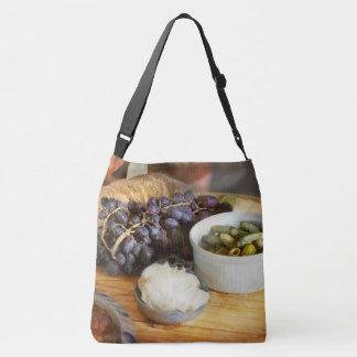Food - Fruit - Gherkins and Grapes Crossbody Bag