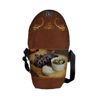 Food - Fruit - Gherkins and Grapes Messenger Bag