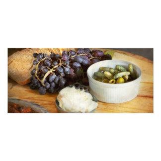 Food - Fruit - Gherkins and Grapes Rack Card