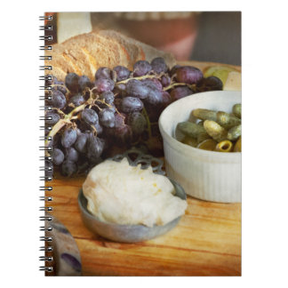 Food - Fruit - Gherkins and Grapes Spiral Notebook