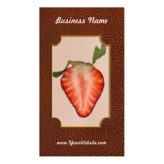 Food - Fruit - Slice of Strawberry Business Card