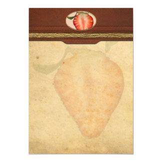 Food - Fruit - Slice of Strawberry Invitation