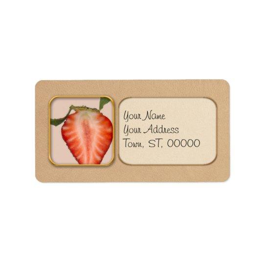 Food - Fruit - Slice of Strawberry Label