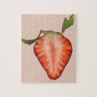 Food - Fruit - Slice of Strawberry Jigsaw Puzzles