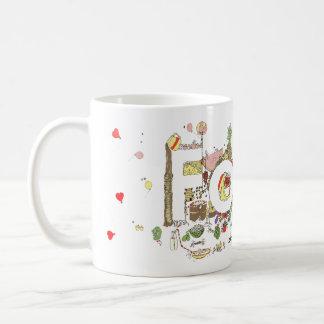 'Food' funny foodie creative text Coffee Mug