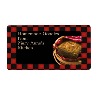 Food Gift From Your  Kitchen Personalized Custom Label