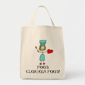 Food, Glorious Food! Organic Grocery Tote