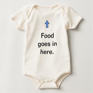 Food Goes in Here. Baby Bodysuit