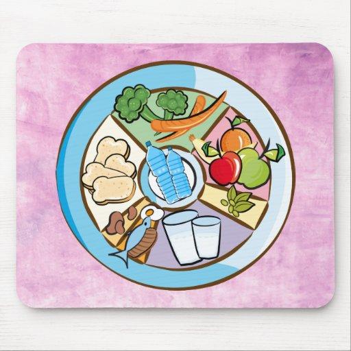 Food Groups pink mousepad