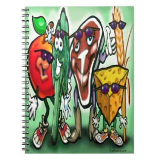 Food Groups Spiral Notebook