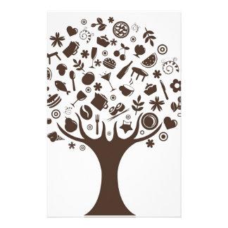 Food Growing On Trees Apple Fruit Coffee Tree Cake Stationery