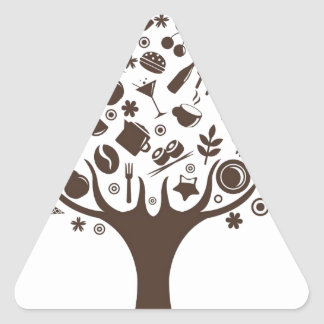 Food Growing On Trees Apple Fruit Coffee Tree Cake Triangle Sticker