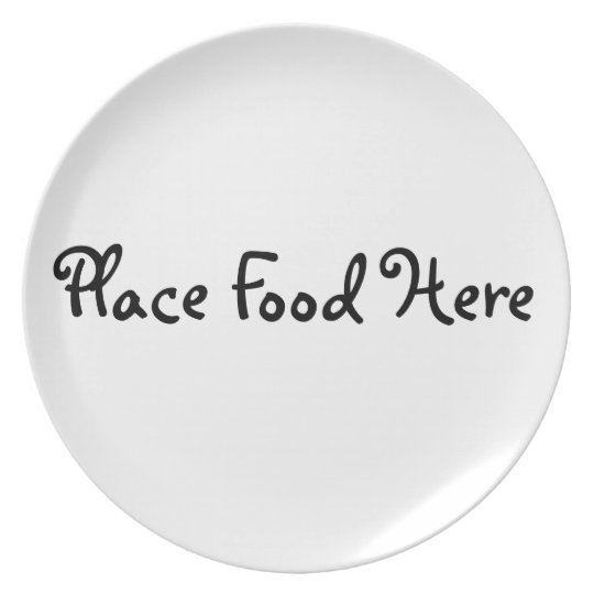 Food Here Plate