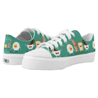 Food hipster,pattern,friends forever,egg,coffee, Low-Top sneakers