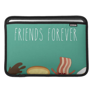 Food hipster,pattern,friends forever,egg,coffee, MacBook air sleeve