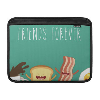 Food hipster,pattern,friends forever,egg,coffee, MacBook sleeve