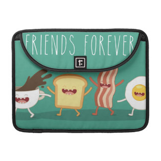 Food hipster,pattern,friends forever,egg,coffee, sleeve for MacBooks