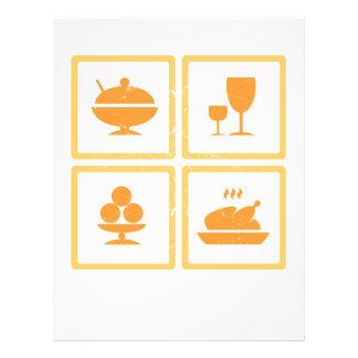 Food icons custom flyer