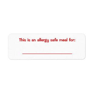 Food identification Label