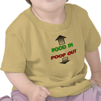 Food In Poop Out Funny Baby T-Shirt Humor