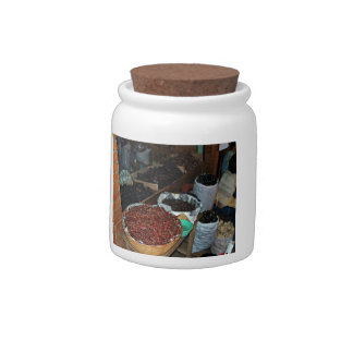 Food ingredients in a grocery candy jars