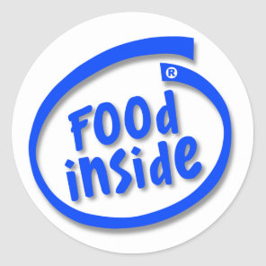 Food Inside Classic Round Sticker