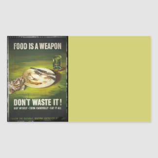 Food is a Weapon Don't Waste Rectangular Sticker