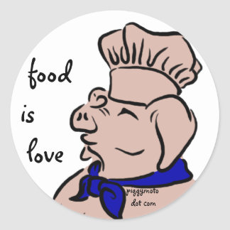 Food Is Love, Pig Chef Stickers