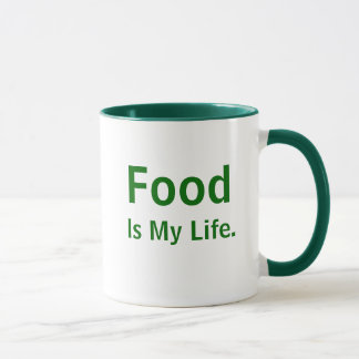 Food Is My Life Inspirational Chef Quote Slogan Mug