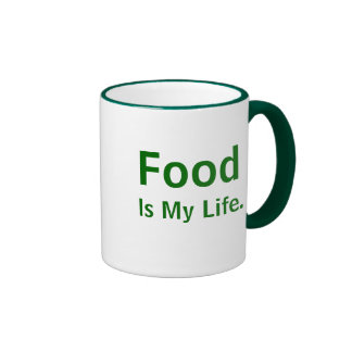 Food Is My Life Inspirational Chef Quote Slogan Ringer Mug