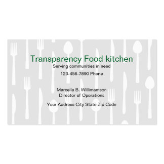 Food Kitchen Business Cards