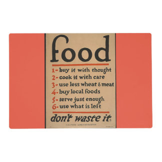 Food laminated placemat