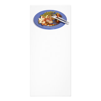 Food leftovers customized rack card