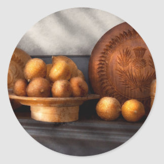 Food - Lemons - Winter spice Classic Round Sticker