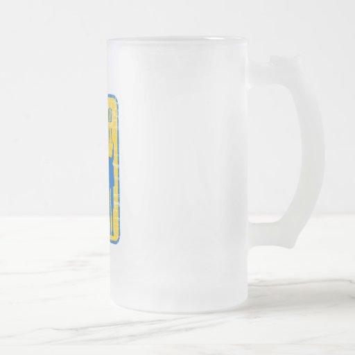 Food Llama 16 Oz Frosted Glass Beer Mug