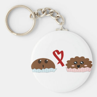 food love basic round button keychain